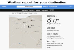 Google Weather- Study abroad- Shine Consultancy - overseas education
