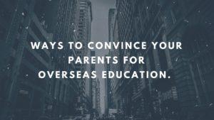 Convince Parents